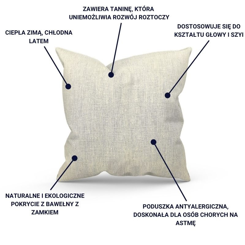 infografika poduszki z łuską gryki